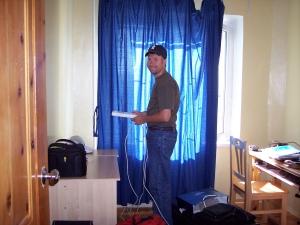 setting up the IKEA desk